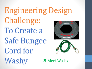 Create a Safe Bungee Cord for Washy