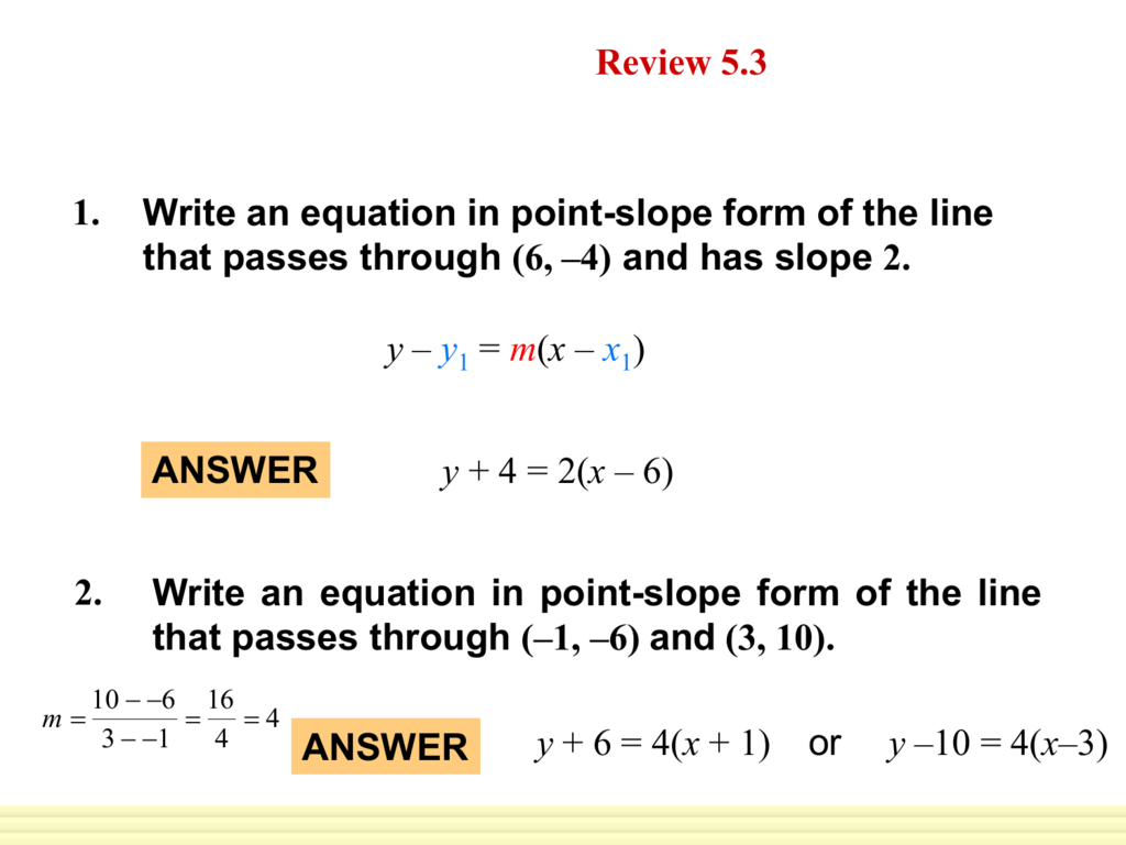 54 Write Linear Equations In Standard Form