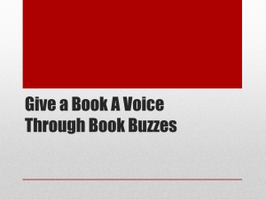 Give a Book A Voice Through Book Buzzes