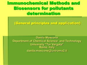 Imunochemical Methods and Biosensors for pollutants determination