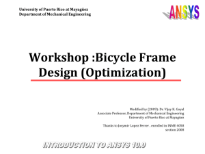 BikeFrame:Vertical Load Optimization