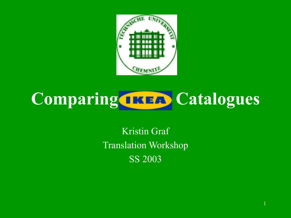 Graf, Kristin  Comparing IKEA catalogues