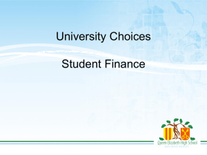 University Finance 2015 Overview John Hill Presentation File