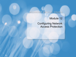 Configuring Network Access Protection