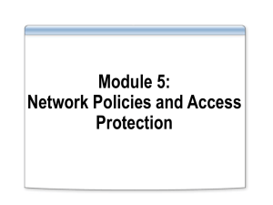 Module 5: Network Policies and Access Protection