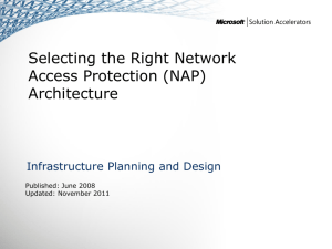 IPD - Selecting the Right NAP Architecture version 1.1