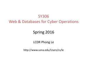 SY306 Web & Databases for Cyber Operations Spring 2015 Assoc