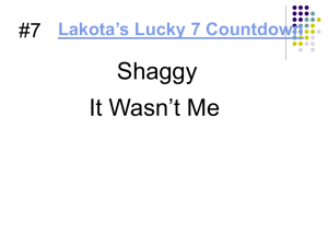 Lakota's Lucky 7 Countdown
