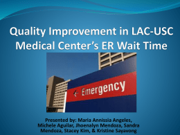 Quality Improvement in USC Medical Center