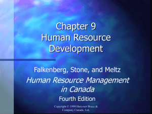 chapter nine human resource development