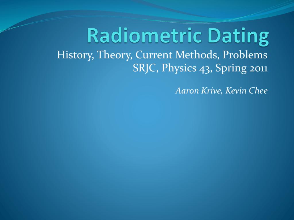 Radiometrische dating uranium lood