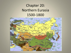 Notes: Chapter 20, Northern Eurasia, 1500-1800