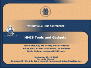 HMIS Tools and Gadgets