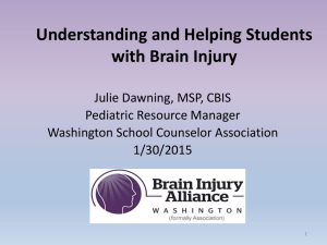 Brain Injury in the US - Washington School Counselor Association