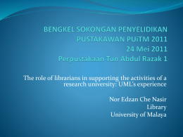Information Skills Division - UM Research Repository