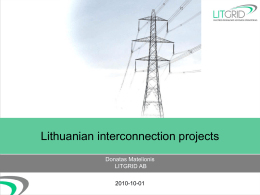 Lithuanian interconnection projects