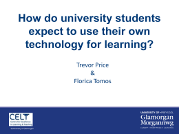 How do university students expect to use their own technology for