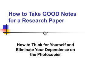 how to take notes - ZimmermanCollegePrepIV