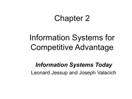Chapter 2 Information Systems for Competitive Advantage