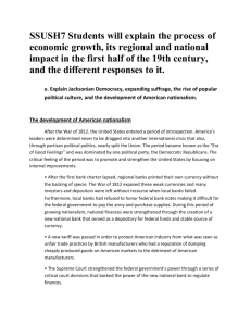 Ch. 14 Jackson and the Growth of Am. Democracy Timeline Answers
