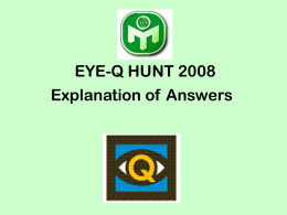 The 2008 Eye-Q Questions