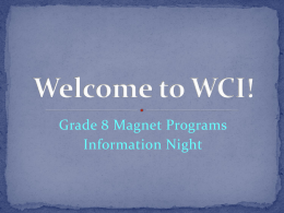 Grade 8 Magnet Night 2015
