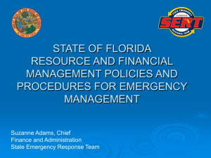 State of Florida Resource and Financial