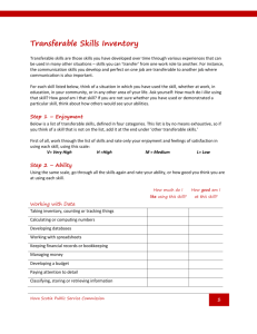 Transferable Skills Inventory