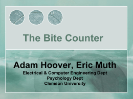 Bite Counter - College of Engineering and Science