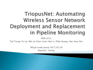 TriopusNet: Automating Wireless Sensor Network Deployment and