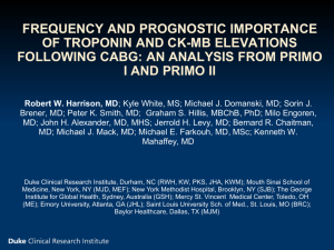 Frequency and Prognostic Importance of Troponin and CK