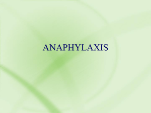 Causes of anaphylaxis - Oregon Emergency Medical Services