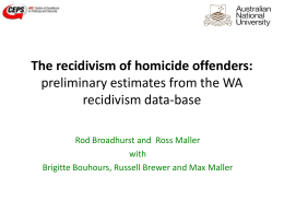 research paper on recidivism