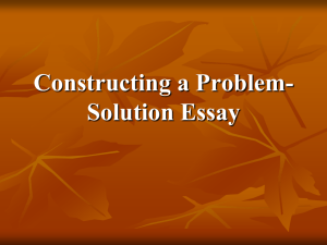 problem solution essay.corrected