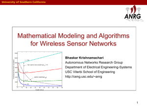 Mathematical Modeling and Algorithms for Wireless Sensor Networks