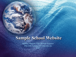 Sample School Website - Sydney Region School ICT Website