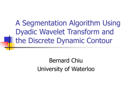 Automatic Segmentation Using Dyadic Wavelet Transform