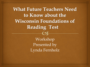 Wisconsin Foundations of Reading Test