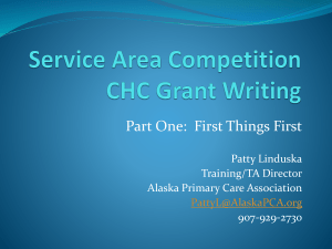 Service Area Competition CHC Grant Writing