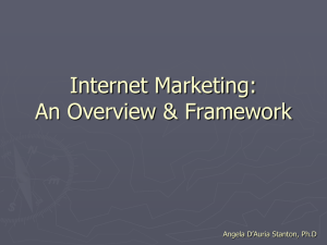 Internet Marketing and Online Business Models