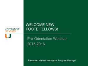Foote Fellows Program Contact Information