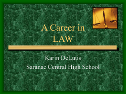 A Career in LAW