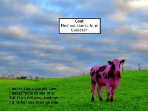 Poetry Structure PPT (Purple Cow)