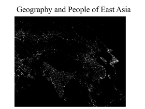 Geography and People of East Asia