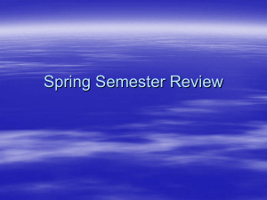 Spring Semester Review