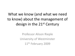 (and what we need to know) about the management of design in the