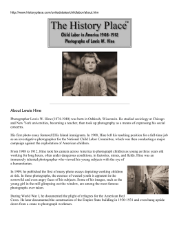 About Lewis Hine – Article - Institute for Student Achievement