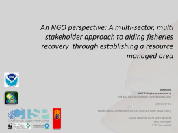 An NGO perspective: A multi-sector, multi stakeholder