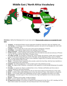 2014 Middle East North Africa Vocabulary