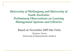 University of Wollongong and University of South Australia